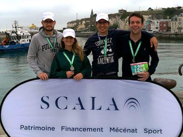 Scala Patrimoine a soutenu l'une des équipes participant à la première édition de l'Oxfam Trailwalker à Dieppe, ces 14 et 15 septembre 2019. Elise, Quentin, Maxime et Martin ontmarché 100 km en 29 heures, en équipe, sans relai. Un défi sportif et humain : ce sont 1590 € de collectés pour l'ONG Oxfam.