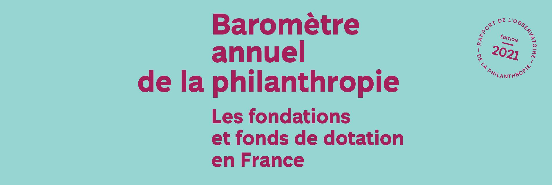 Baromètre de la Philanthropie réalisé par la fondation de france